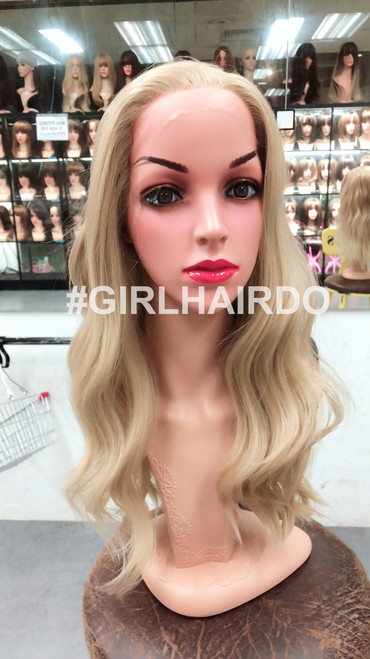 Caramel blonde wavy lace front wig so nice