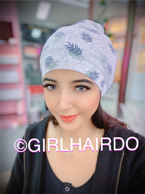 GIRLHAIRDO CHEMO BEANIE SWEET SNOW SUPER SOFT MODEL & COTTON
