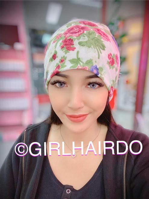 GIRLHAIRDO SWEET ROSES SOFT PREMIUM CHEMO BEANIE