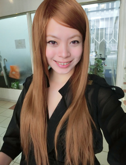 #7623 New Non shiny sleek beautiful long straight full wig!