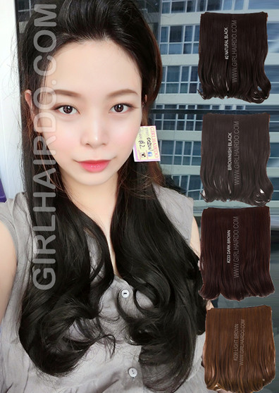 #002W (50 cm) long hair extensions full piece