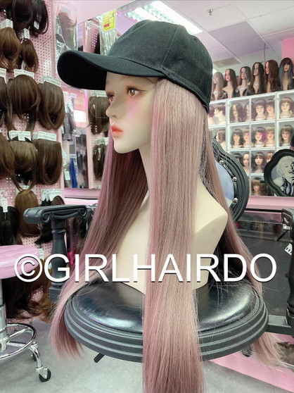 PREMIUM CAP WITH HAIR PASTEL SILKY SOFT REBONDED