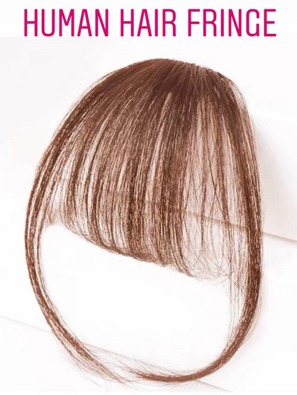100% PREMIUM HUMAN HAIR FRINGE LIGHT BROWN