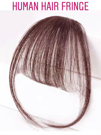 100% PREMIUM HUMAN HAIR AIRY FRINGE CHOCO BROWN