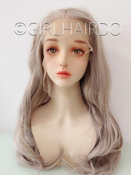 Long premium silver lace wig