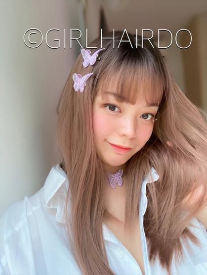 sweet dreamy pinkish brown medium wig