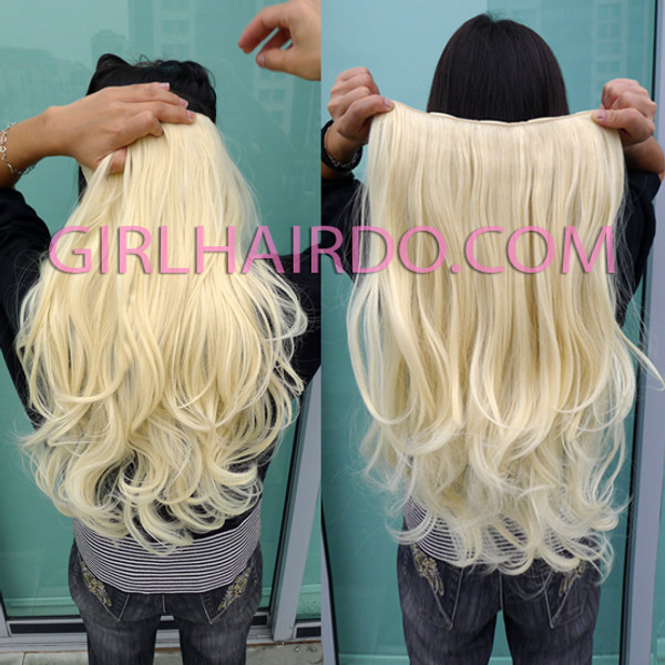 005w Light Blonde Full pc Hair Extensions (Premium)