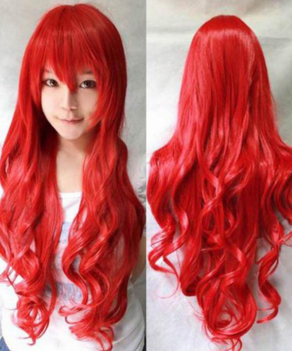 #red premium kanekalon Made in Japan fibre RED CURL Wig