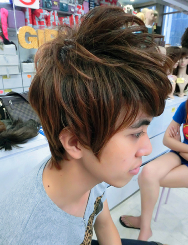 girlhairdo thick guy wig #8829-230!  can style with ur fingers into many different style~ no wax needed!