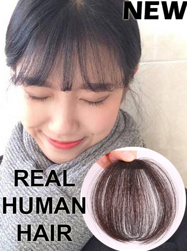 HUMAN HAIR AIRY LIGHTWEIGHT MAGIC FRINGE