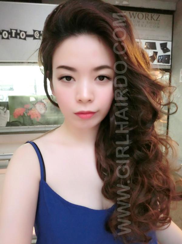 retro look curly half wig