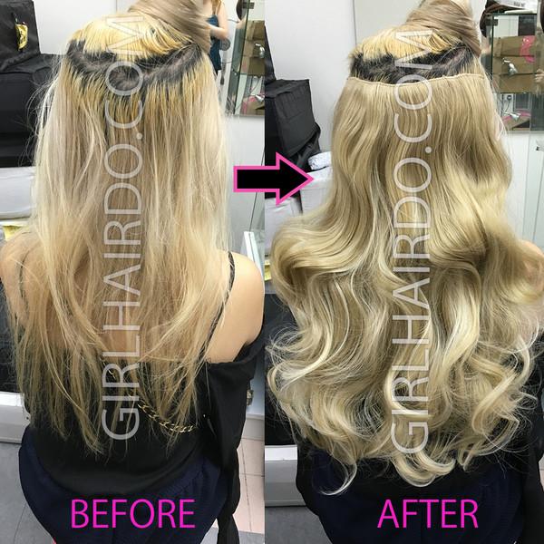 #24b613 blonde hair extensions