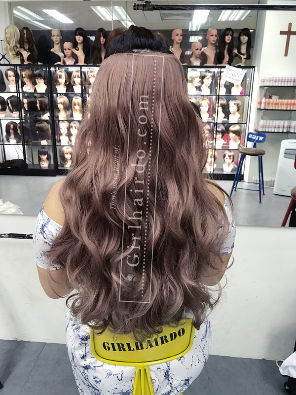 Pastel pink Long curly hair extensions (many videos inside)