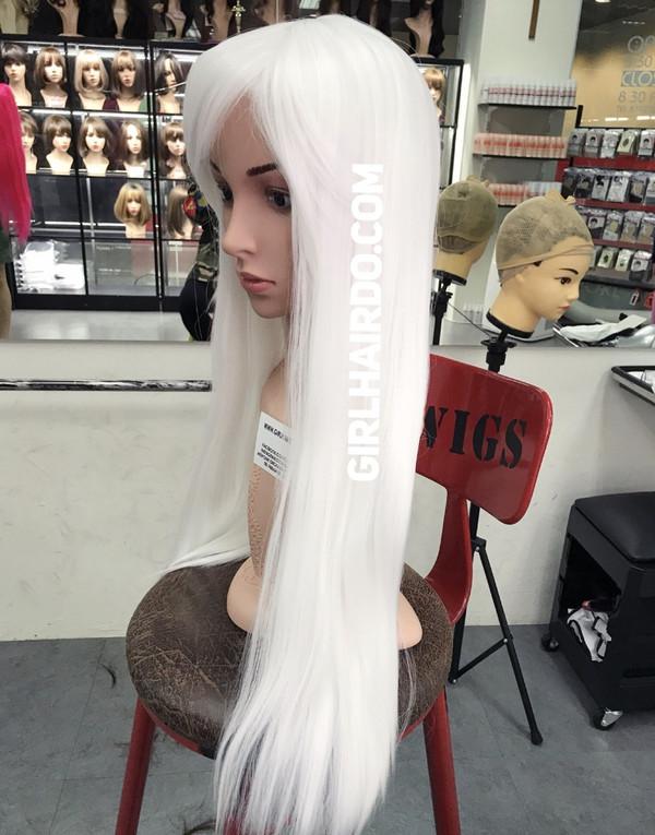 White Long wig