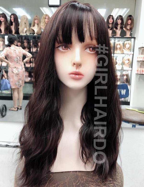 Japanese permed wave skin wig