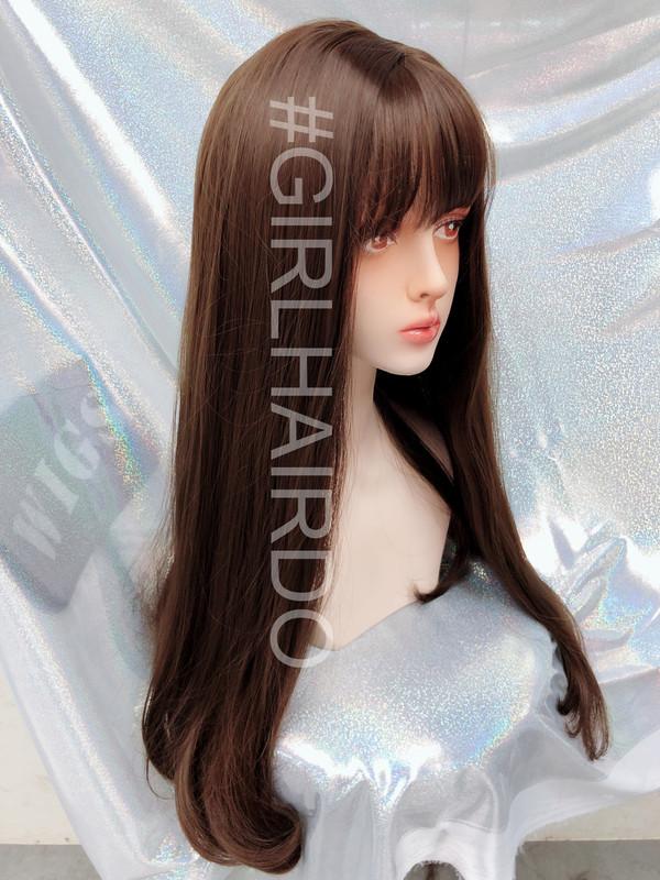 K7619 straight Long skin wig