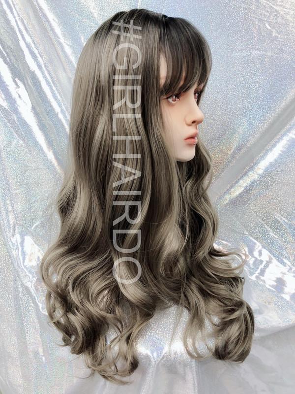 G8195 Silver skin wig