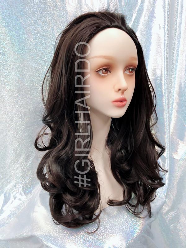 H9072/4 brownish black partial wig