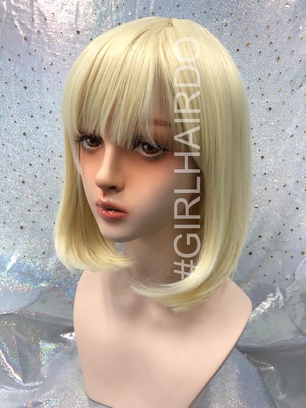P7809 Blonde Bob wig