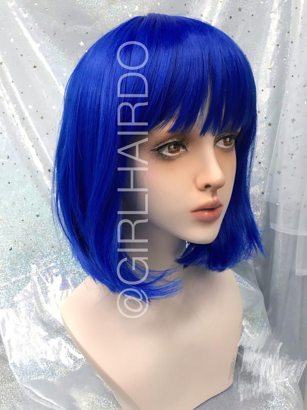 P7809 Electric Blue Bob Wig