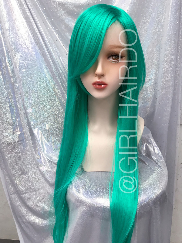 Party Green Long wig