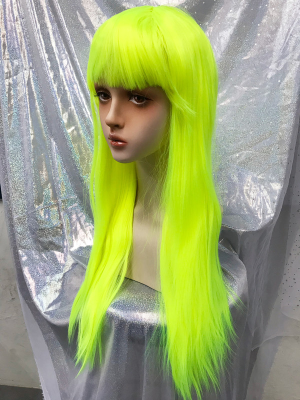 Neon bright Long party wig