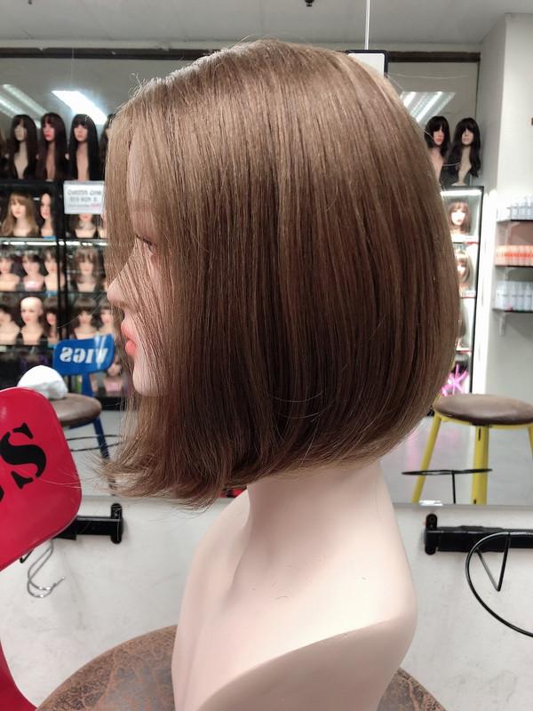 human hair light brown bob