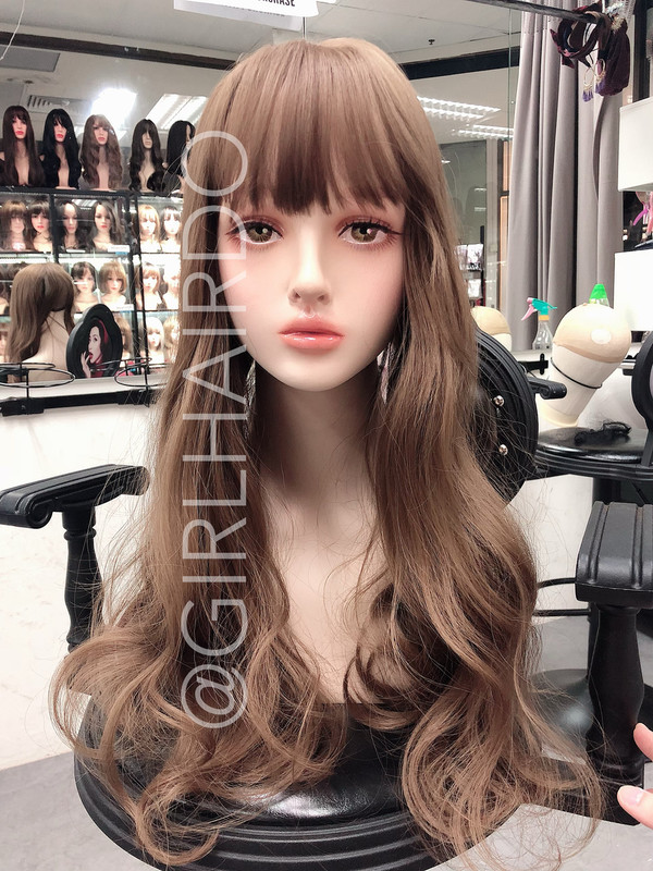 GIRLHAIRDO NEW ARRIVALS JAPAN TOP PIECE CURLS TOP COVER SOFT CURLS (NOT A FULL WIG) LIGHT BROWN COLOURS