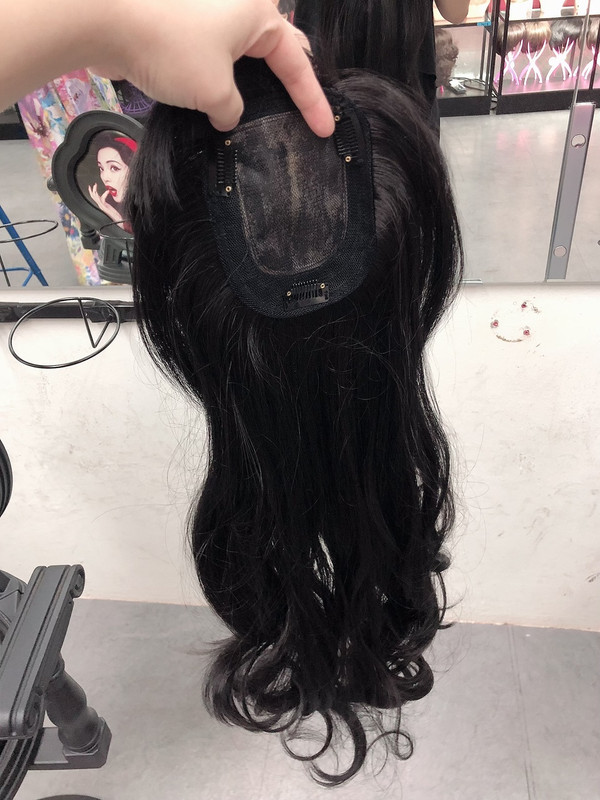 GIRLHAIRDO PREMIUM TOP COVER BLACK LONG SOFT CURLS TOP COVER (NOT A FULL WIG)