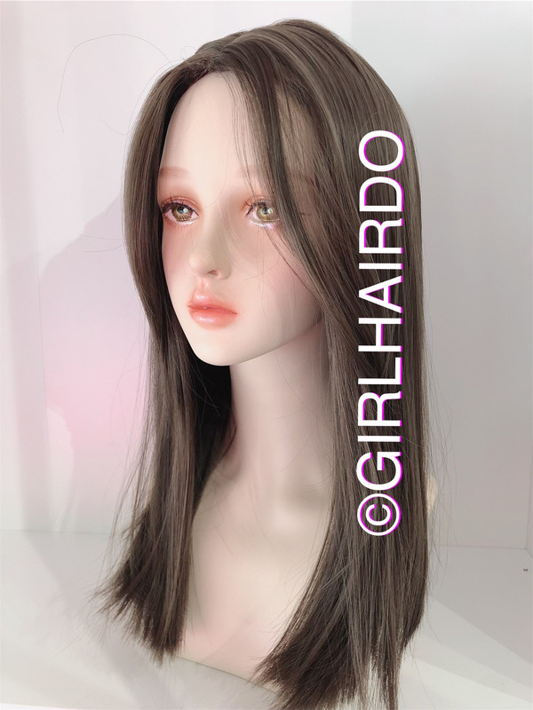 SW1833ML LONG FRINGE SIMPLE STRAIGHT WIG COOL BROWN