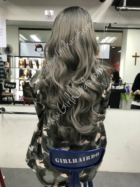 full greyish silverish hair extensions (watch videos)