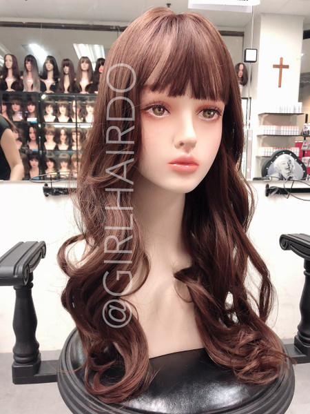 GIRLHAIRDO HONEY BROWN TOP COVER SOFT CURLS LONG (NOT A FULL WIG)