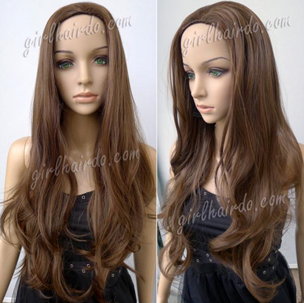 65 to 70cm long romantic curl half wig premium non shiny