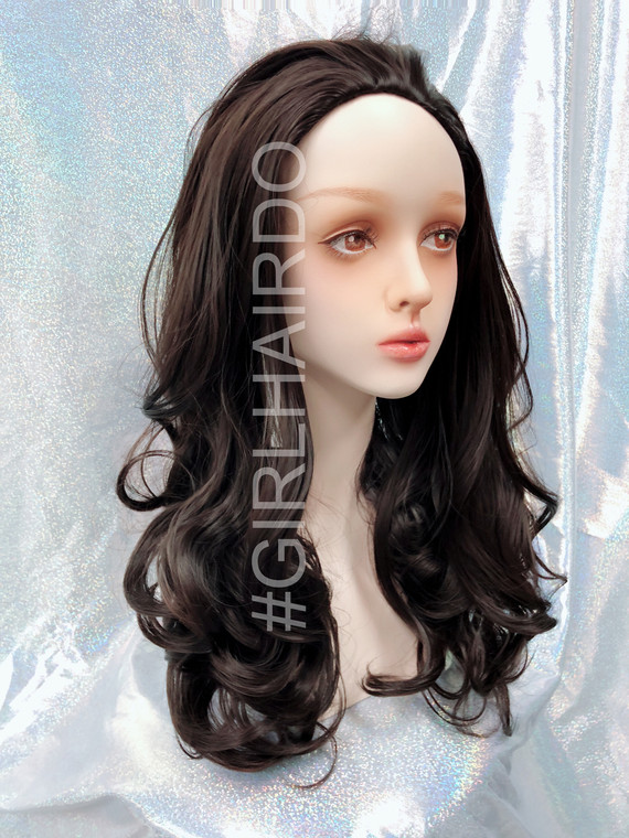 H9072/4 brownish black partial wig