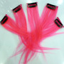 human hair clip in  pink highlights for fringe or short hair.