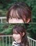 Korean bangs thin version non shiny