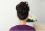 LONG NATURAL BLACK SOFT NON SHINY REALISTIC HAIR FOR TYING BUN/PONYTAIL/VOLUME