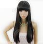 #LONG [PREMIUM] Straight Bangs Super Long Rebonded Full Wig