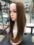 #6066 natural straight wave half wig