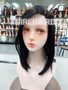 100% premium human hair shoulder length wig with scalp hairline parting