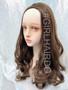 H9072/8 dark ash brown Long curly partial wig
