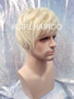 #8829 platinum blonde guy wig stylable and non shiny