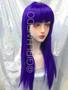 Party wig purple Long Colour wig