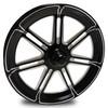 FTD Customs Valor Black Contrast Forged Dragster Spindle Mount Racing Wheel