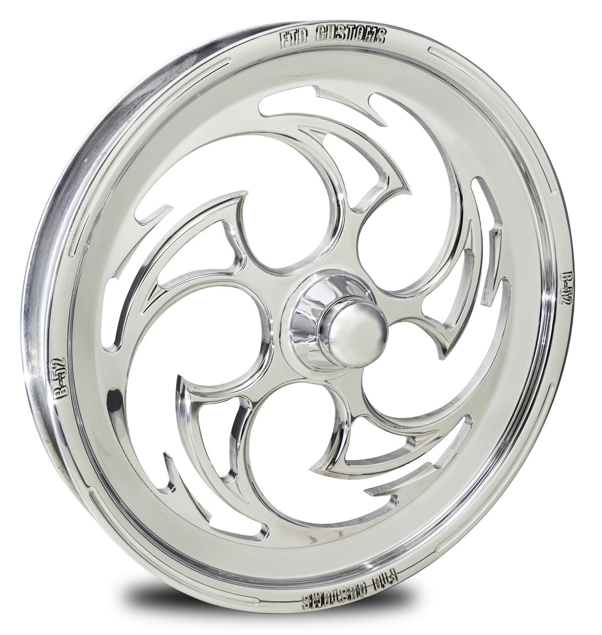 FTD Customs Forged Front Drag Racing Wheel B-52 Polished