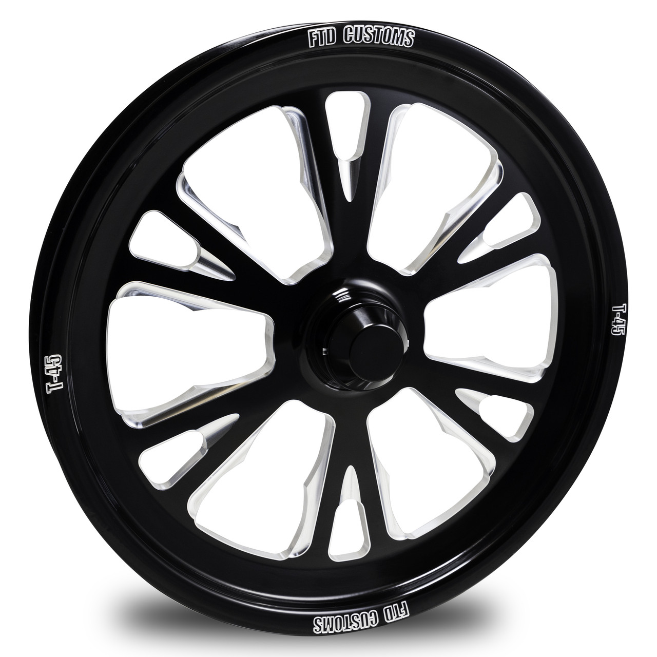 FTD T-45 Black Contrast Dragster Front Wheels
