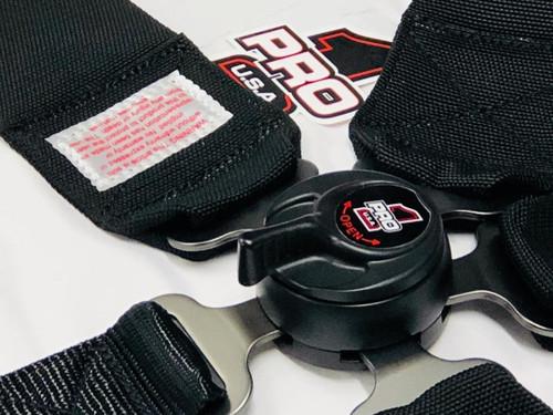Cam Lock Safety Harness Dragster Seat Belts - Black