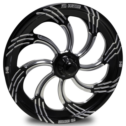 FTD Slasher Black Contrast Dragster Front Wheels