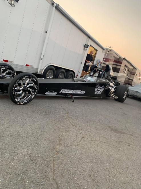 FTD Slasher Black Contrast Dragster Front Wheels