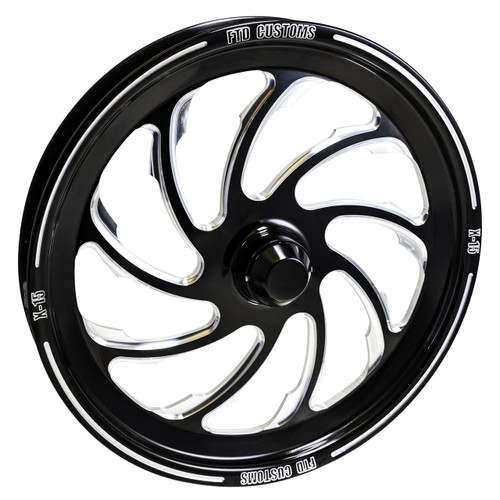 FTD X-15 Black Contrast Dragster Front Wheels